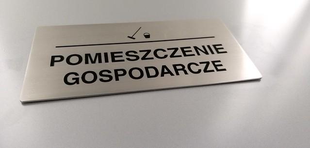 tabliczka ze stali nierdzewnej, grawerowana z emalią, oznaczenie biura (5)