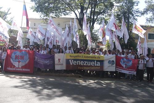 Intersindical e FSM: ato em solidariedade à Venezuela