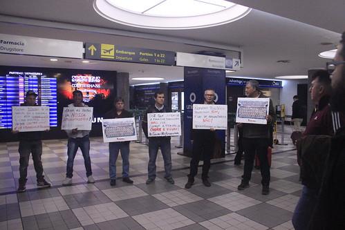 Ato no Aeroporto de Congonhas contra a Reforma da Previdência