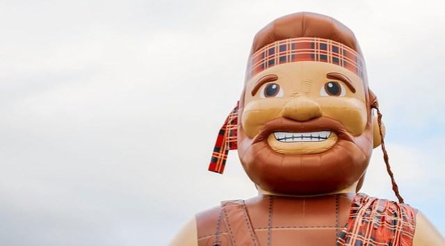 Radford University mascot the Highlander (2)