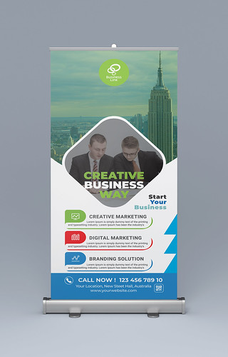 Professional Corporate Business Roll Up Banner Design 2020