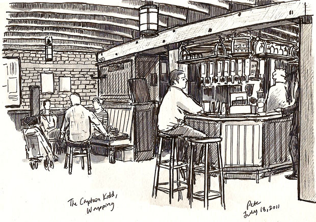 captain kidd pub, wapping