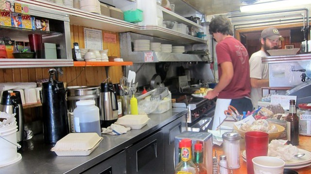 the kitchen at two medicine grill