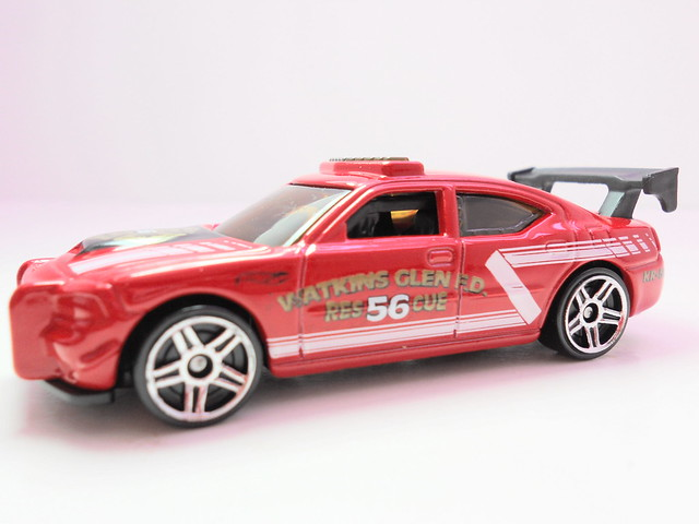 hot wheels dodge charger drift red (4)