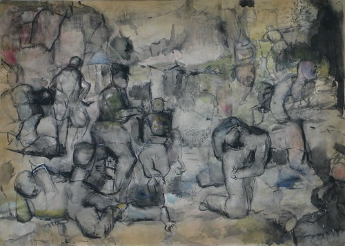 LDBTH321-Figures in Rocky Landscape b