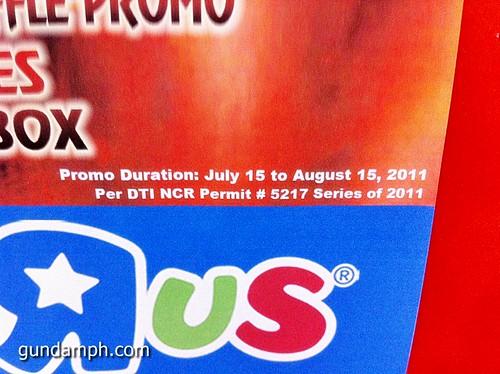 Toys R Us Sangokuden Battle Brave Warriors Promo Raffle (3)