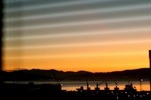 Tuesday: dawn through drapes