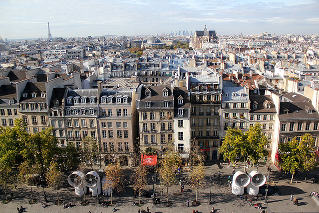 View of Paris from Centre Pompidou