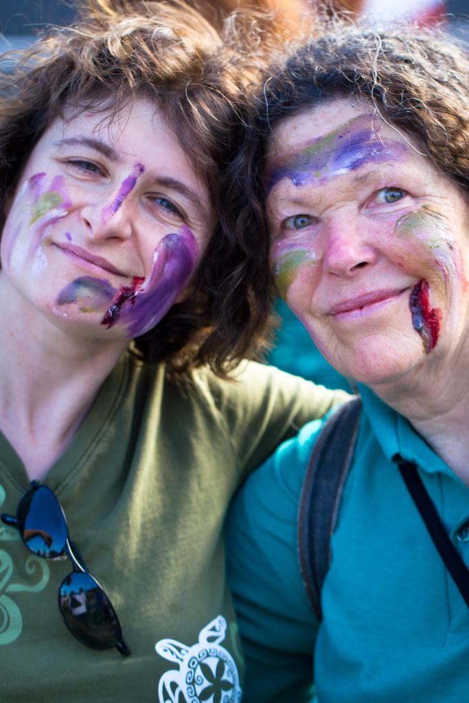 Double zombie portrait
