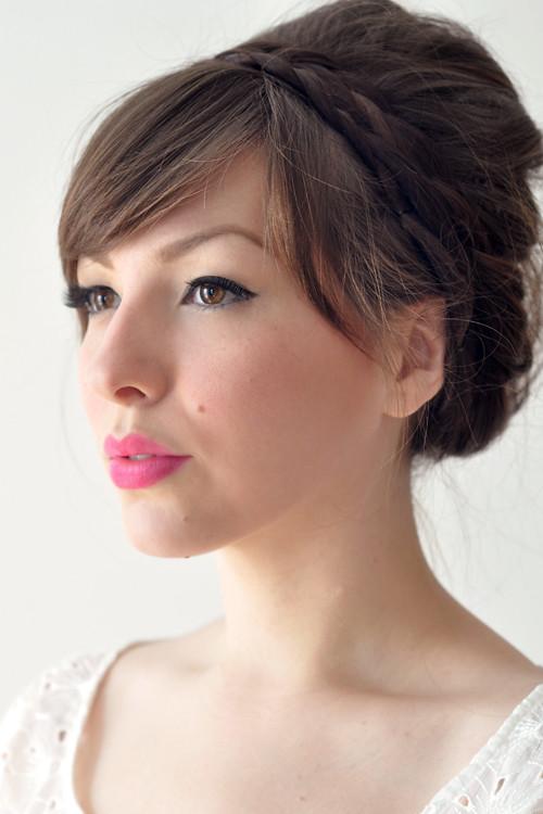 Peinado de novia: combina moño y trenza