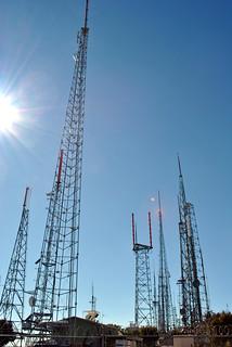 Radio Transmission Towers Atop Mt. Wilson
