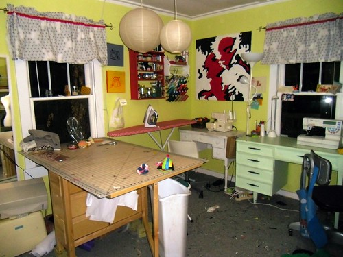sewing room - after