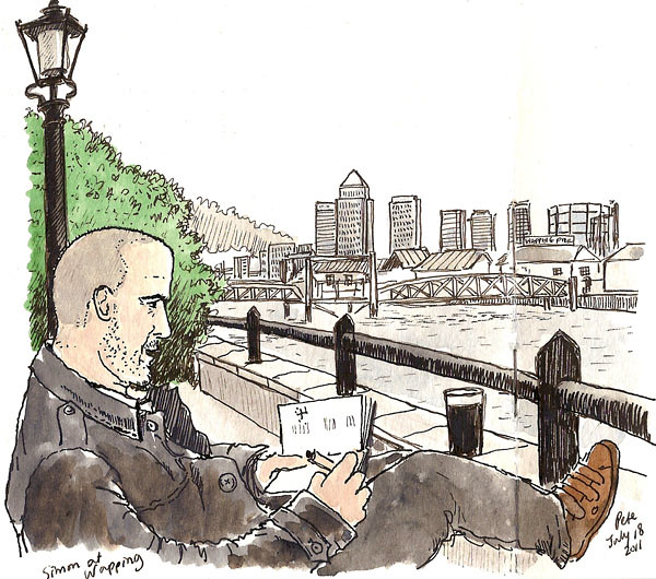 simon sketching at wapping