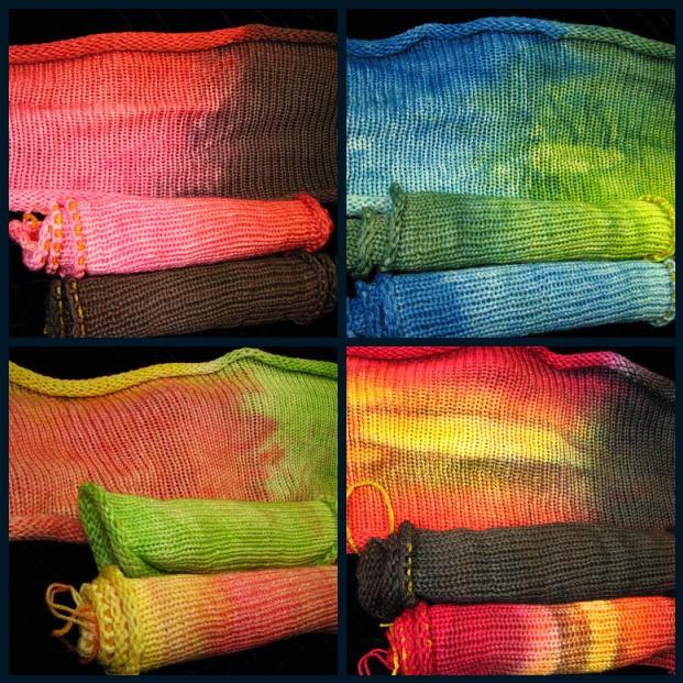 Fillet of Sole Sock Blanks on Safari Wool Nylon Sock Yarn