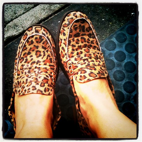New Leopard Loafers