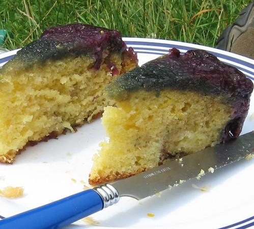 blueberry upsidedown cake