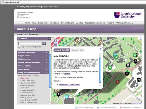 Loughborough campus map maps.lboro.ac.uk
