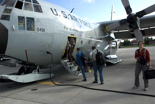 C-130, our plane for the trip