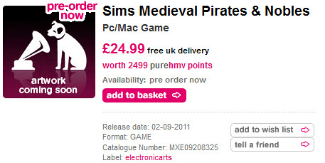 Pre-Order Pirates and Nobles at HMV