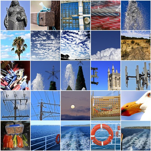 Mosiac of Blue Photographs