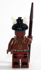 Back of the Cannibal minifig without facepaint
