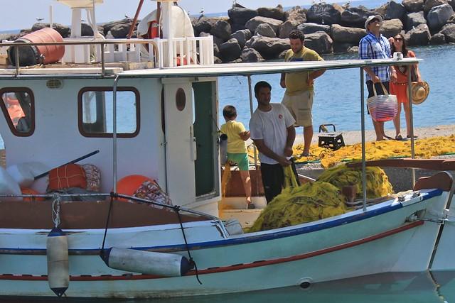 Bateau de pêche, Santorini, Grèce