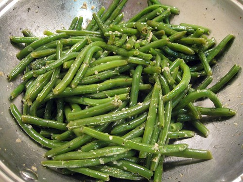 Finished Garlic Green Beans (With Skinnier Green Beans)