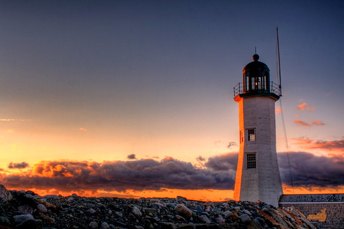 Scituate Harbor Light by DeadDogsEye