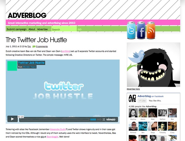 Twitter Hustle on Adverblog