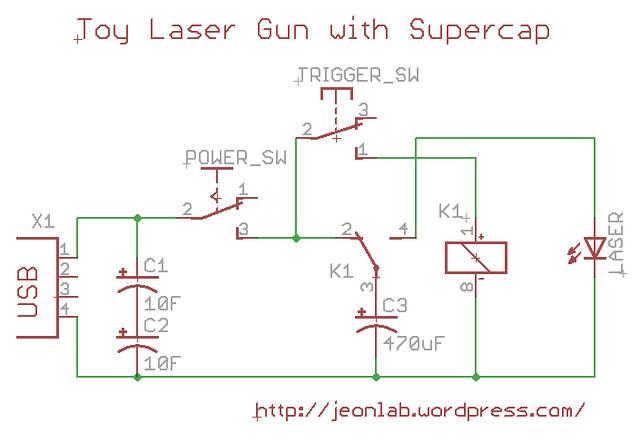 Laser gun circuit