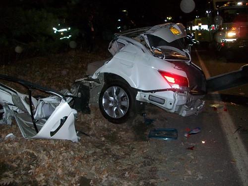 Caused Deer Wrecks Car