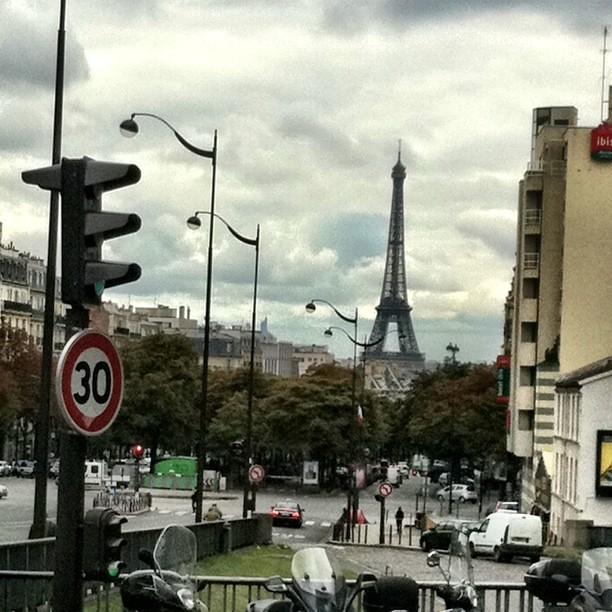 La Tour Eiffel vue de la gare Montparnasse