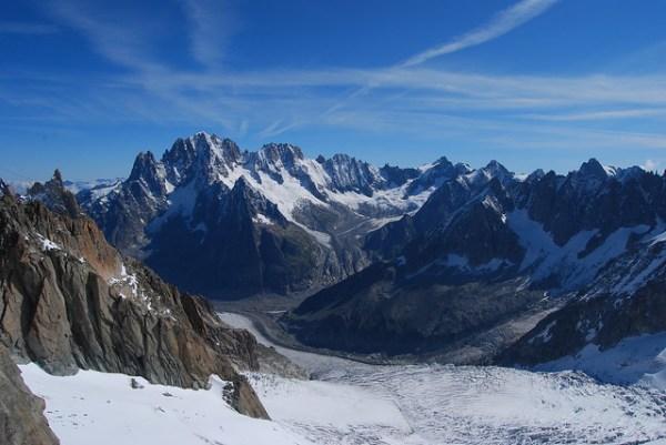 Vistas de los Alpes desde el teleférico