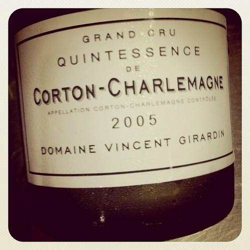 Vincent Girardin Quintessence de Corton Charlemagne 2005