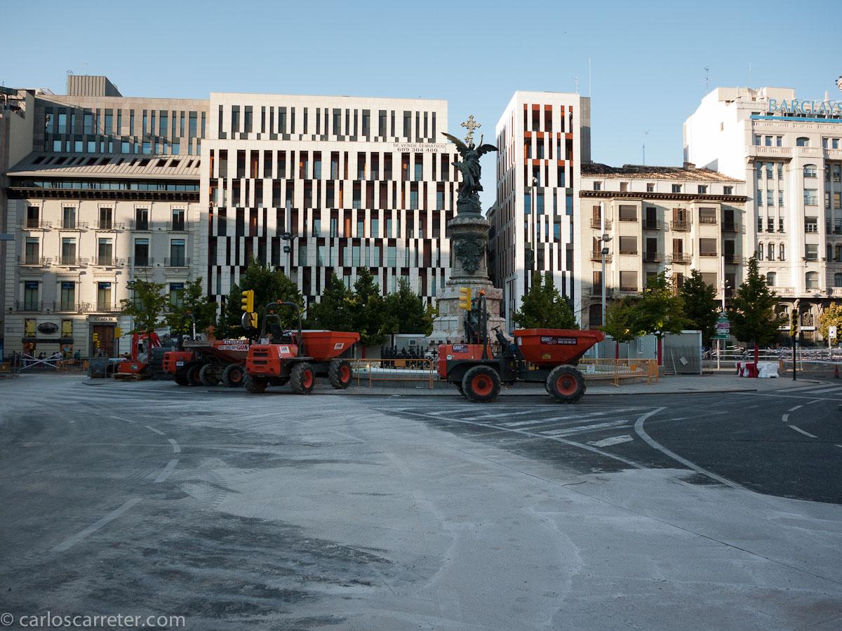 Obras del tranvía - Plaza de Españ