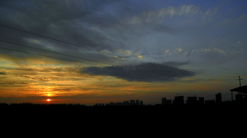 Sunset @ work