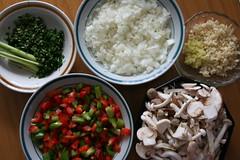 Prepared Ingredients for Sjef Hansen's Spicy Mussel Pot