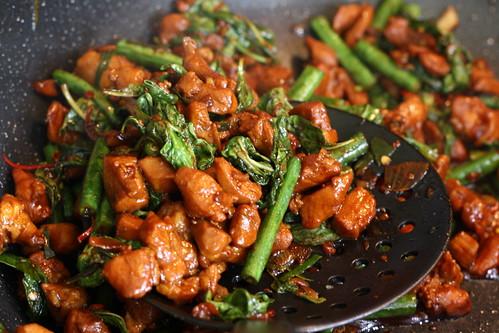 Thai Basil Chicken w/chinese long beans