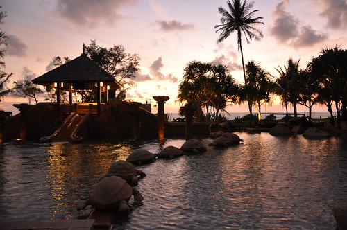 Sunset at J. W. Marriott Resort in Phuket