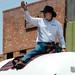 Man Riding Propane Truck