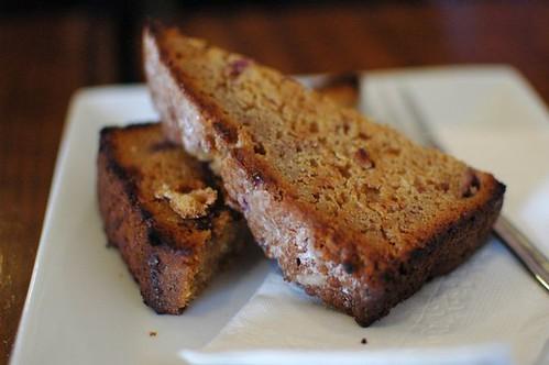 Raspberry, apple & cinnamon bread - toasted