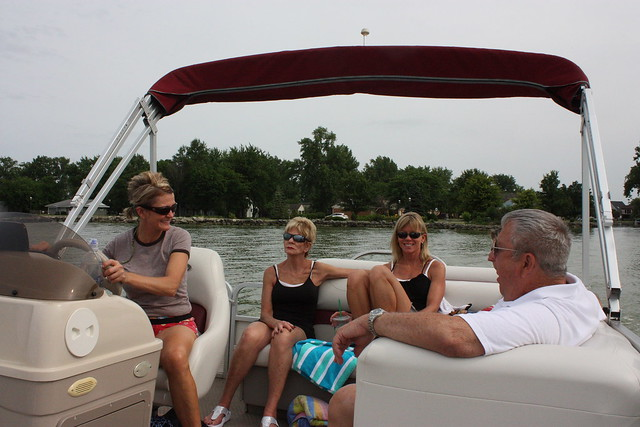 Fam on the boat