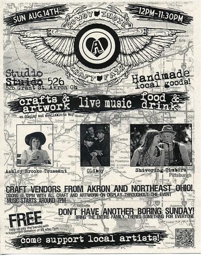 rowdy indie craft fair flyer