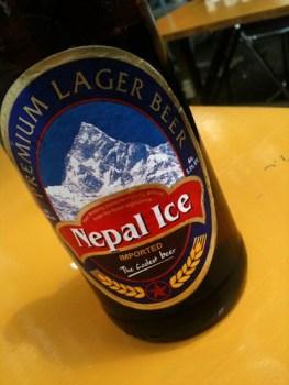 ネパールのビール!ネパールの水を使っているせいかうまい!