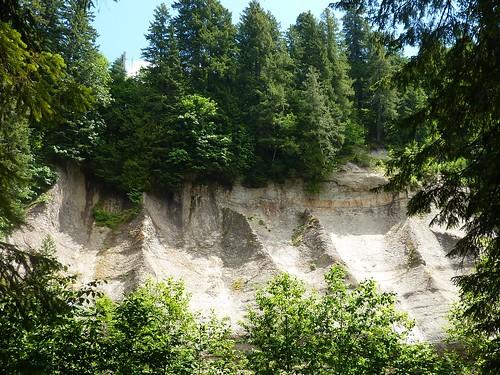 eroding cliff