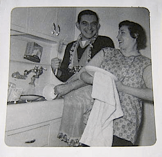 1950s Couple Drying Dishes