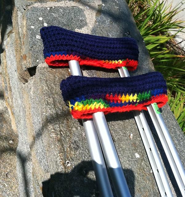 Crochet Crutch Covers
