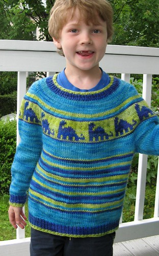 2453 J's dino sweater