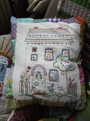 Barney Park Stitching Sampler by Charlotte Lyons (& stitched by me)