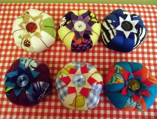6 new pincushions